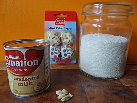 Coconut ladoo ingredients