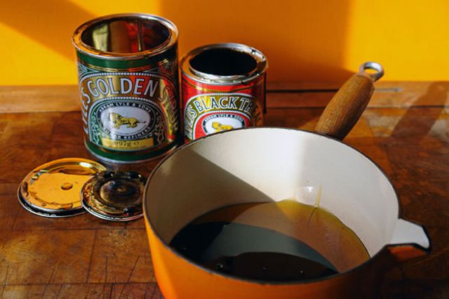 Tins of Lyle's Golden Syrup and Black Treacle | H is for Home