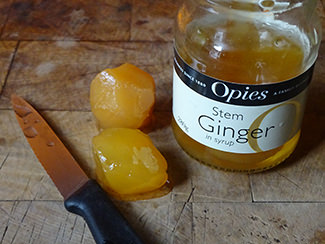Jar of Opies stem ginger in syrup | H is for Home