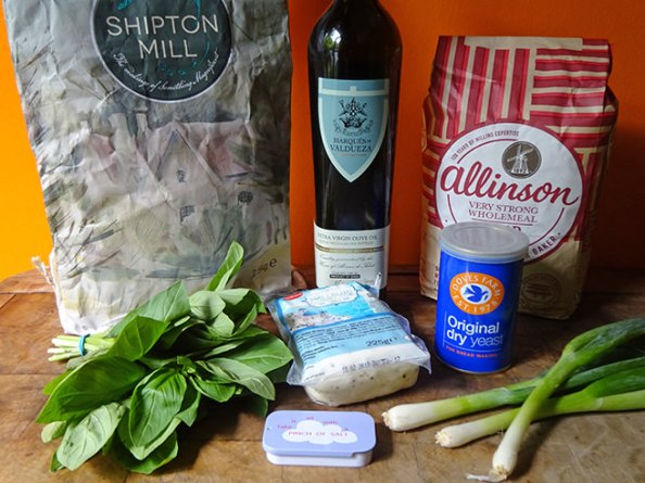 Halloumi herb bread ingredients