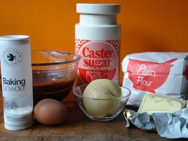 Home-made chocolate caramel chestnut cake ingredients