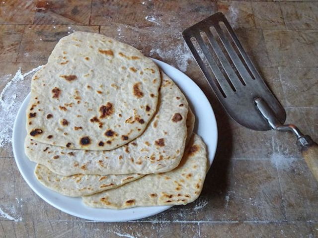 Stack of freshly-made piadina | H is for Home