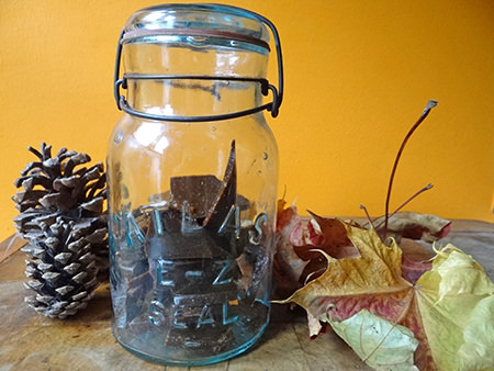 Jar of home-made plot toffee | @hisforhome