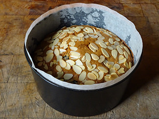Prune and almond fruit cake in cake tin | H is for Home