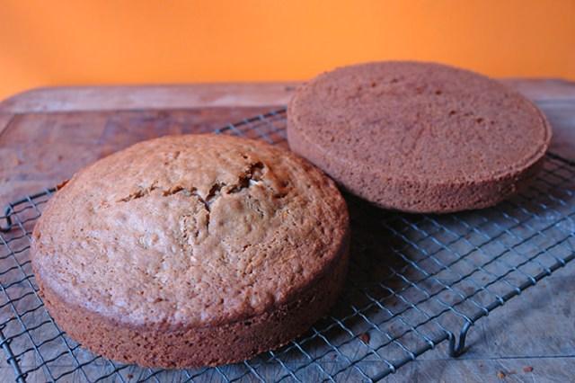 Cooked sweet potato cakes