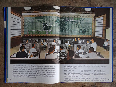 Mercury Control Center illustration from a vintage 'This is Cape Canaveral' book