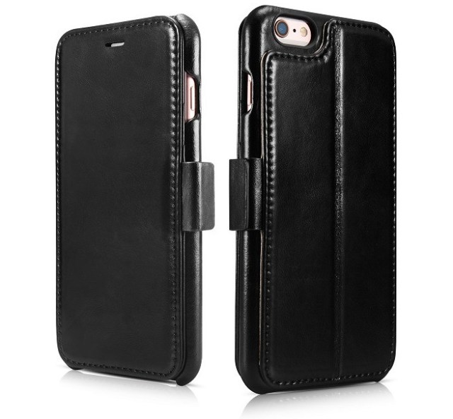 Black leather iPhone cover