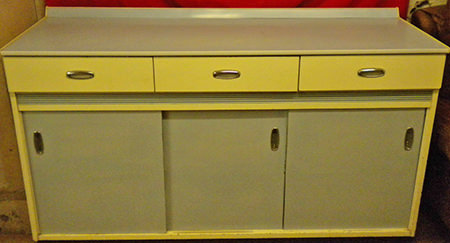 vintage 1950s/60s Formica sideboard for sale by & in support of British Heart Foundation