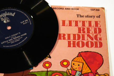 Vintage Red Riding Hood book & accompanying vinyl record | H is for Home