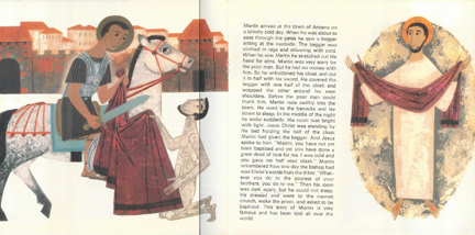 illustration from 'Life of St Martin' vintage children's book | H is for Home