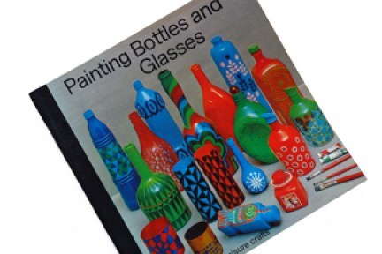 cover of a vintage craft booklet on how to decorate glass bottles