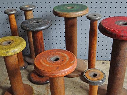 collection of vintage bobbins