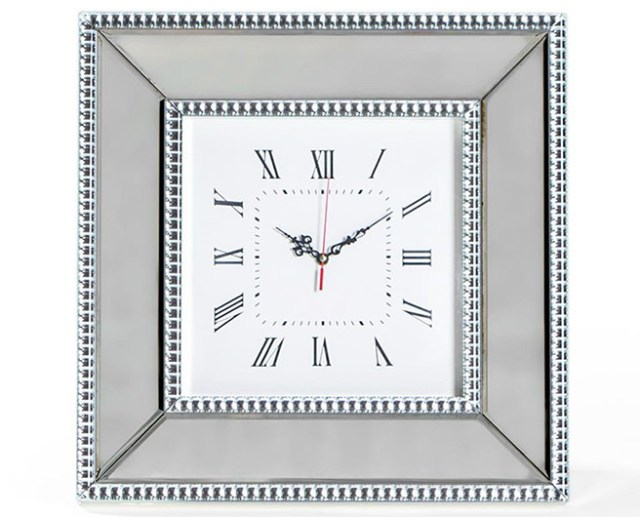Venetian pearled style edge Mayfair glass wall clock