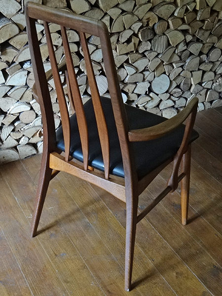 back of a vintage Eva chair by Koefoeds Hornslet of Denmark