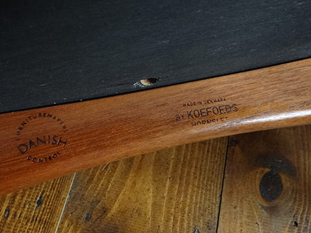Koefoeds Hornslet maker's mark on a vintage Eva chair