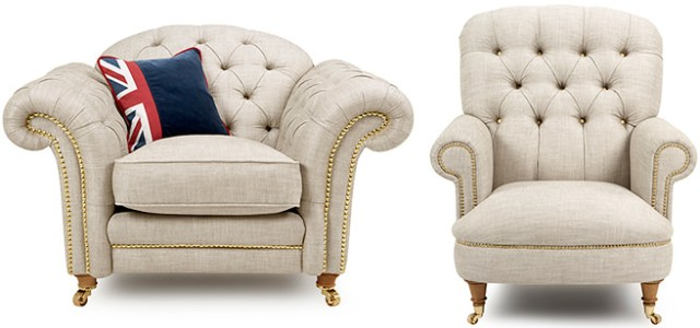 DFS armchair and accent chair from the Britannia range