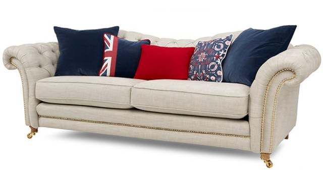 DFS Britannia sofa designed for & inspired by Team GB at the 2016 Rio Summer Olympics