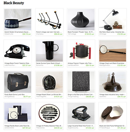 'Black Beauty' Etsy List curated by H is for Home