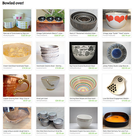 'Bowled Over!' Etsy List by H is for Home