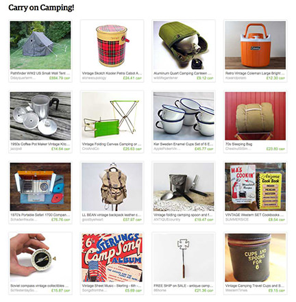 'Carry on Camping!' Etsy List curated by H is for Home