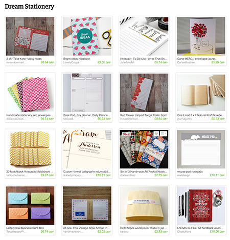 'Dream Stationery' Etsy List curated by H is for Home