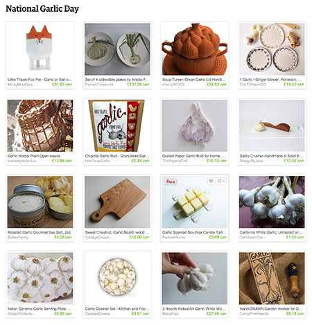 'National Garlic Day' Etsy List curated by H is for Home