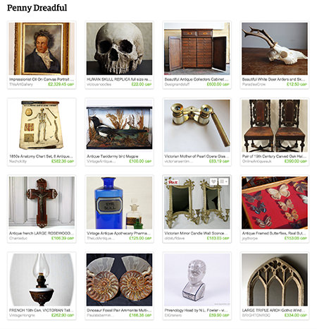'Penny Dreadful' Etsy List curated by H is for Home