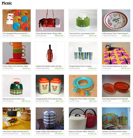 'Picnic' Etsy List curated by H is for Home
