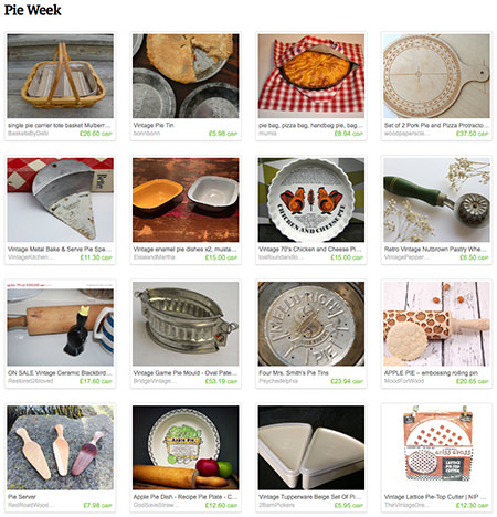 'Pie Week' Etsy List curated by H is for Home