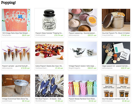 'Popping!' Etsy List curated by H is for Home | vintage and homemade popcorn items