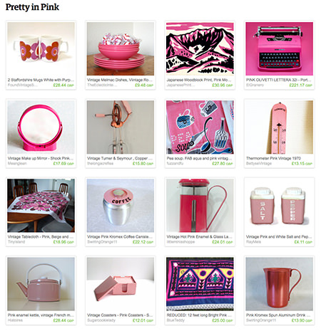 'Pretty in Pink' Etsy List curated by H is for Home