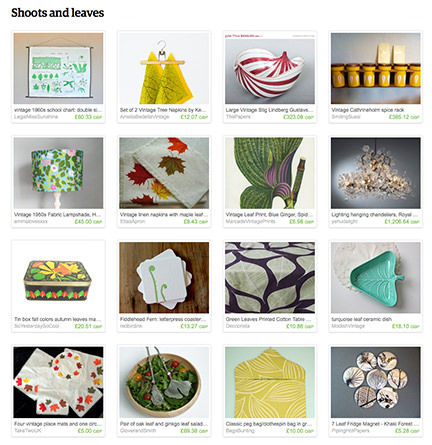 'Shoots and leaves' Etsy List curated by H is for Home