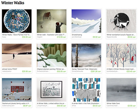 'Winter Walks' Etsy List curated by H is for Home