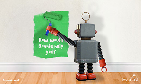 Everest Home Improvements' Ronnie the Robot