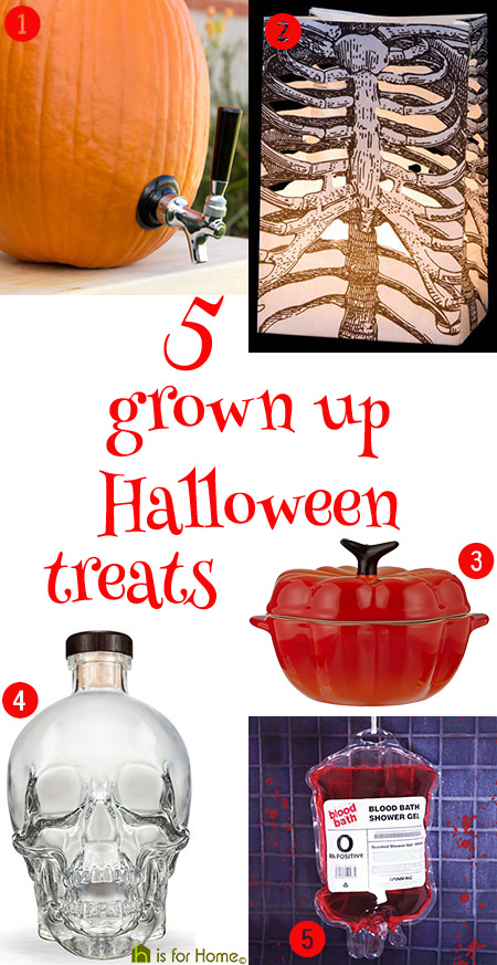 selection of 5 grown up Halloween treats | H is for Home
