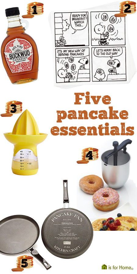 Selection of 5 Pancake Day essentials