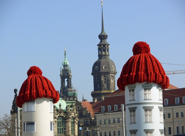 Bobble hats on roofs