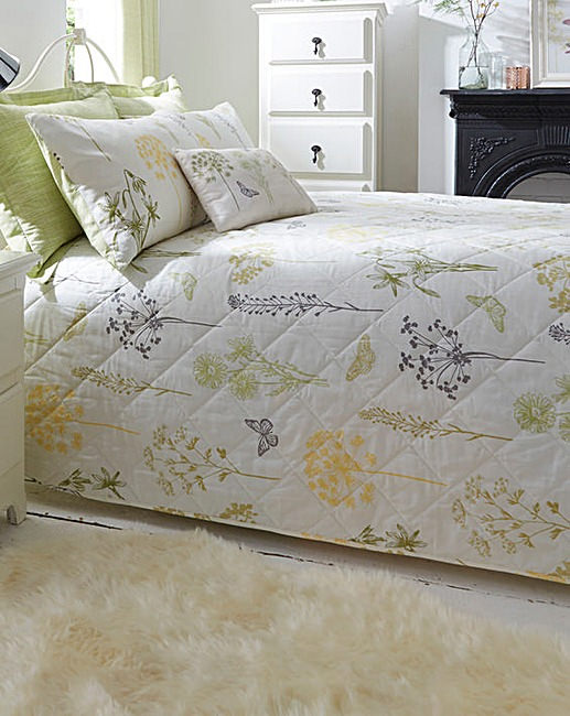bedding with large wildflower print