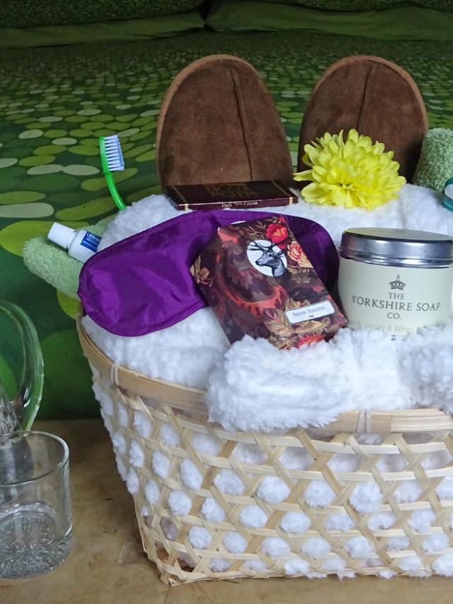 Guest bedroom welcome basket   H is for Home