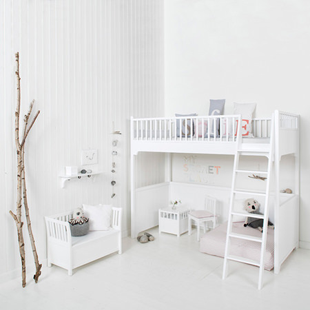 Scandinavian styled kids' bedroom
