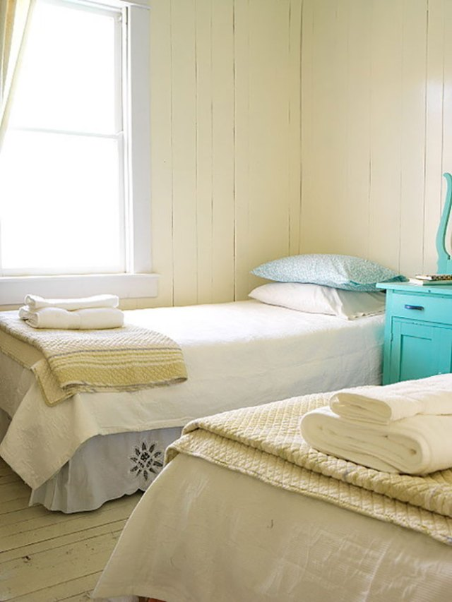 Buttermilk twin bedroom