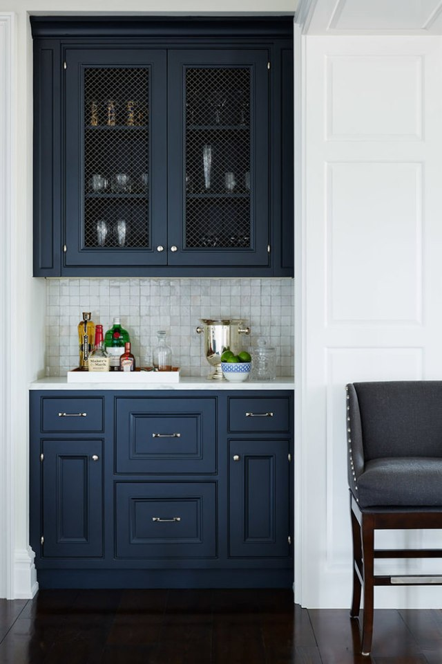 Indigo kitchen cabinets