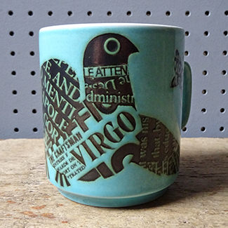 Vintage Virgo mug designed by John Clappison for Hornsea Pottery | H is for Home