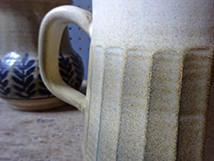Detail from vintage Iden Pottery mug | H is for Home