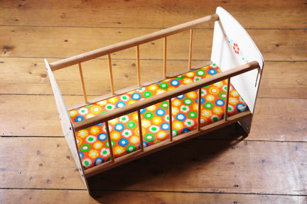 vintage child's doll cot / crib | H is for Home
