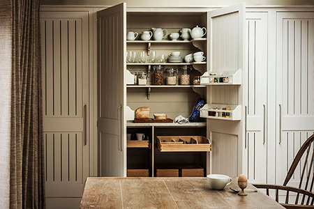 built in kitchen pantry