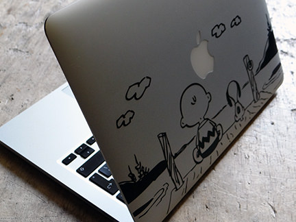 Charlie Brown laptop decal from Vinyl Revolution