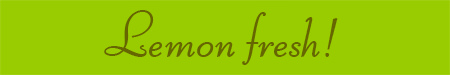 'Lemon fresh!' blog post banner