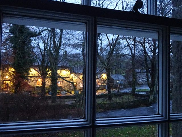 Looking through the window of Tennant Cottage, Yorkshire Dales | H is for Home