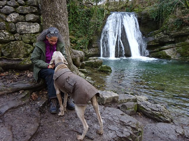 Adelle and Fudge at Janet's Foss, Yorkshire Dales | H is for Home